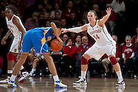 STANFORD, CA - January 20, 2011: Stanford Cardinal's Kayla Pedersen during Stanford's 64-38 victory over UCLA at Maples Pavilion in Stanford, California.