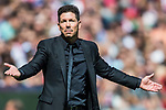 Coach Diego Simeone of Atletico de Madrid gestures during the La Liga 2017-18 match between Atletico de Madrid and Sevilla FC at the Wanda Metropolitano on 23 September 2017 in Madrid, Spain. Photo by Diego Gonzalez / Power Sport Images