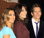 """Guiding Light's Kevin Bacon """"Tim Werner"""" (Search For Tomorrow), As The World Turns' Annie Parisse """"Julia"""" and Passions Natalie Zea """"Gwen Hotchkiss"""" star in """"The Following"""", Fox's new tv series on Mondays, which held its world premiere on January 19, 2013 at the New York Public Library, New York City, New York. (Photo by Sue Coflin/Max Photos)"""