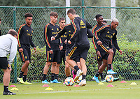 20190902 – TUBIZE , BELGIUM : Belgian players are pictured during a training session of the U21 youth team of the Belgian national soccer team Red Devils , a training session as a preparation for their first game against Wales in the qualification for the European Championship round in group 9 on the road for Hungary and Slovenia in 2021, Monday 2 th September 2019 at the National training grounds in Tubize , Belgium. PHOTO SPORTPIX.BE | Sevil Oktem