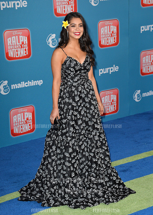 LOS ANGELES, CA. November 05, 2018: Auli'i Cravalho at the world premiere of &quot;Ralph Breaks The Internet&quot; at the El Capitan Theatre.<br /> Picture: Paul Smith/Featureflash