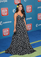 "LOS ANGELES, CA. November 05, 2018: Auli'i Cravalho at the world premiere of ""Ralph Breaks The Internet"" at the El Capitan Theatre.<br /> Picture: Paul Smith/Featureflash"
