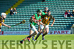 In Action Crotta's  Jordan Conway and Abbeydorney's Kieran Dineen  at the Senior County Hurling Championship 2016 Round 1 Replay Crotta O'Neills v Abbeydorney at Austin Stacks Park on Sunday