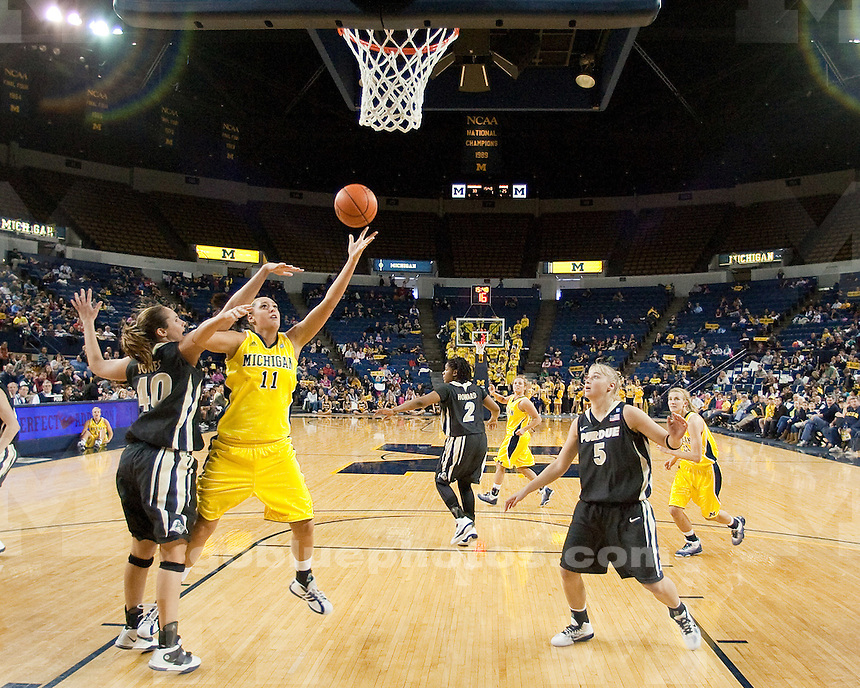 University of Michigan women's basketball 57-45 victory over Purdue at Crisler Arena in Ann Arbor, MI, on January 23, 2011.