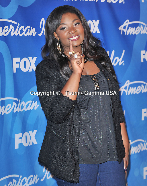 Candace Glover at the American Idol 2013 at the Nokia Theatre in Los Angeles.
