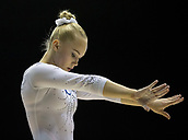 22nd March 2018, Arena Birmingham, Birmingham, England; Gymnastics World Cup, day two, womens competition; Angelina Melnikova (RUS) warming up before the competition