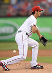 Yu Darvish (Rangers),<br /> APRIL 28, 2014 - MLB :<br /> Pitcher Yu Darvish of the Texas Rangers in action during the Major League Baseball game against the Oakland Athletics at Globe Life Park in Arlington in Arlington, Texas, United States. (Photo by AFLO)
