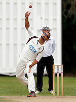 Paul Weekes bowls for Hornsey during the Middlesex Cricket League Division Two game between Shepherds Bush and Hornsey at Bromyard Ave, London on Sat Aug 1, 2015