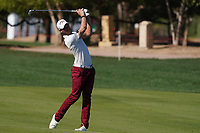 Thomas Detry (BEL) on the 6th fairway during Round 2 of the Abu Dhabi HSBC Championship 2020 at the Abu Dhabi Golf Club, Abu Dhabi, United Arab Emirates. 17/01/2020<br /> Picture: Golffile   Thos Caffrey<br /> <br /> <br /> All photo usage must carry mandatory copyright credit (© Golffile   Thos Caffrey)