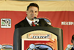 12 November 2004: DC United head coach Peter Nowak. Major League Soccer held their annual pre-MLS Cup press conference at the Home Depot Center in Carson, CA two days before the Kansas City Wizards were scheduled to play DC United in the league's annual championship game..