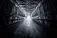 Inside the 330-foot covered bridge at Knight's Ferry in the Sierra foothills