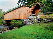 Corbin Covered Bridge,  which crosses the Sugar River in Newport, New Hampshire USA.