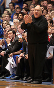 St. Louis Head Coach Rick Majerus instructs his players from the bench at the Duke vs. St. Louis basketball game Saturday, December 11, 2010. (Photo by Al Drago)