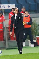 Massimiliano Allegri   in action during the Italian Serie A soccer match between   SS Lazio and FC Juventus   at Olimpico  stadium in Rome , November 22, 2014