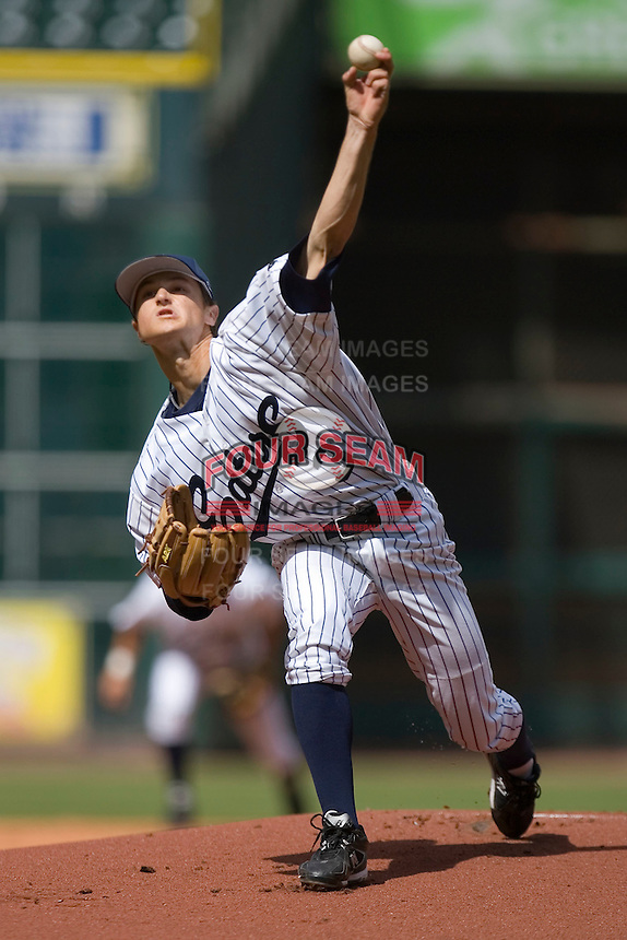 Daniel Bibona #3 of the UC-Irvine Anteaters in action versus the Texas A&M Aggies  in the 2009 Houston College Classic at Minute Maid Park February 27, 2009 in Houston, TX.  The Aggies defeated the Anteaters 9-2. (Photo by Brian Westerholt / Four Seam Images)