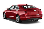 Car pictures of rear three quarter view of a 2015 Cadillac ATS 2.5L Standard RWD 4 Door Sedan Angular Rear