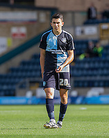 Luke O'Nien of Wycombe Wanderers during the Sky Bet League 2 match between Wycombe Wanderers and Plymouth Argyle at Adams Park, High Wycombe, England on 12 September 2015. Photo by Andy Rowland.