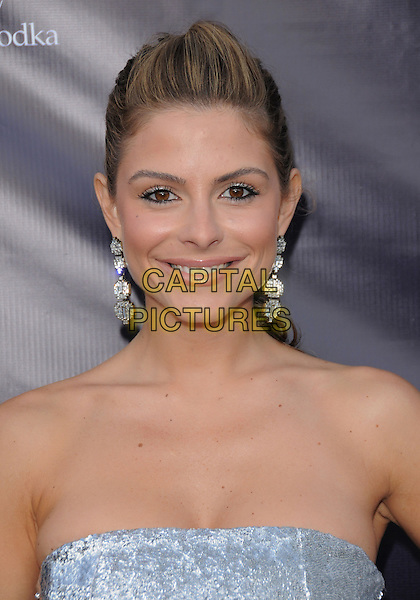 MARIA MENOUNOS .at the 9th Annual Chrysalis Butterfly Ball held at  a private residence in Brentwood, California, USA, .June 5th 2010..portrait headshot hair up smiling dangly earrings  strapless silver .CAP/RKE/DVS.©DVS/RockinExposures/Capital Pictures.