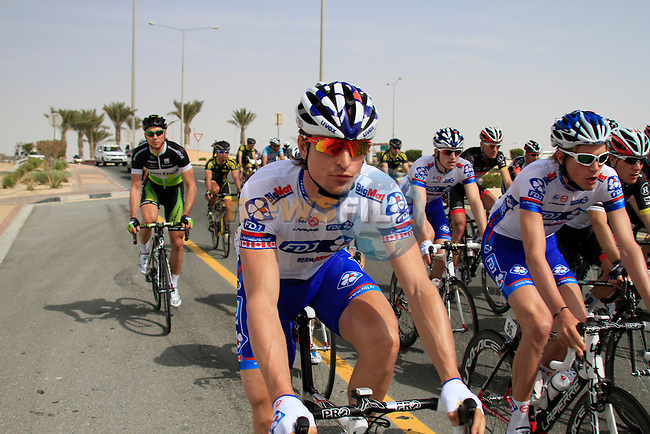 The start of the 3rd Stage of the 2012 Tour of Qatar from Dukhan Souq to Al Gharafa Stadium, Qatar, 7th February 2012 (Photo Eoin Clarke/Newsfile)