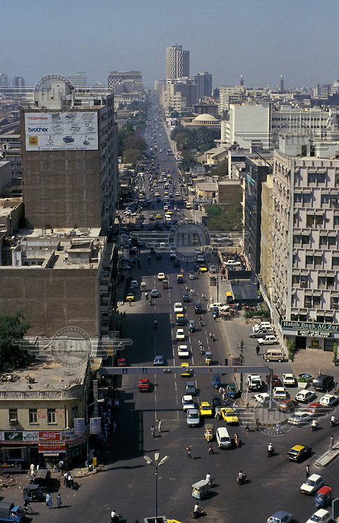 An overview of the city of Karachi.