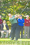 Terence McCarthy Ross tees off at the in the Nines Kerry final in Castlerosse Golf Course on Saturday   Copyright Kerry's Eye 2008