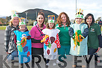 GREEN TIME: Member's of the Comane rowing club and Iasc Og pre-school at the Glenbeigh St Patrick's Day parade on Saturday l-r:Marcella Rietveld, Deaglan Rietveld, Karen Griffin, Grace O'Connell, Liane Teahan, Noel Hannon and Kelly Teahan..
