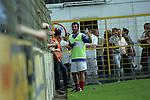 Vincenzo Terrazzino (VfR Mannheim) nach seiner Auswechslung  in der Oberliga 2007/08 VfR Mannheim vs. SV Waldhof/Mannheim. Foto © Rhein-Neckar-Picture *** Foto ist honorarpflichtig! *** Auf Anfrage in höherer Qualität/Auflösung. Belegexemplar erbeten.