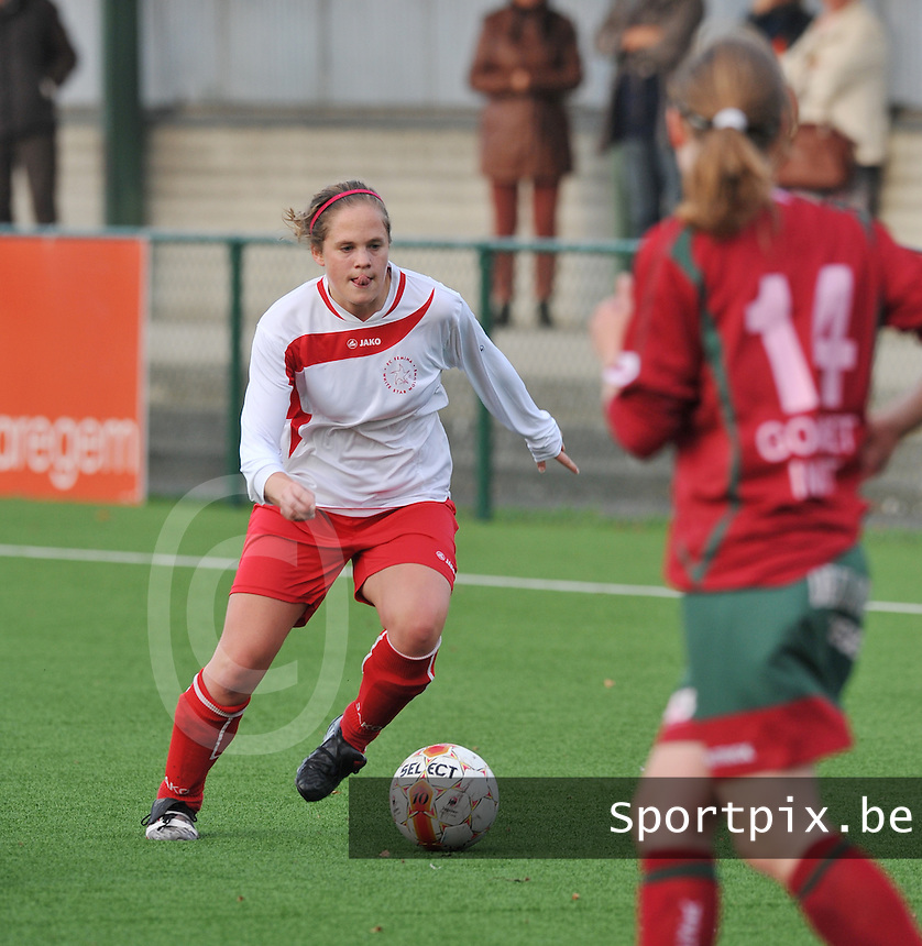 Dames Zulte - Waregem - Femina White Star Woluwe : Olivia Philippart de Foy.foto DAVID CATRY / Vrouwenteam.be