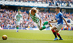 01.09.2019 Rangers v Celtic: Moritz Bauer and Jordan Jones