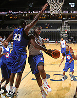Jordon Price at the NBPA Top100 camp at the John Paul Jones Arena Charlottesville, VA. Visit www.nbpatop100.blogspot.com for more photos. (Photo © Andrew Shurtleff)