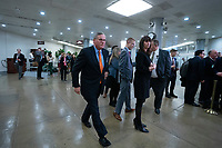 United States Senator Richard Burr (Democrat of Nort Carolina) walks through the Senate Subway to attend a closed door briefing in the Senate SCIF with United States Secretary of State Mike Pompeo, United States Secretary of Defense Dr. Mark T. Esper, Gina Haspel, Director, Central Intelligence Agency (CIA), United States Army General Mark A. Milley, Chairman of the Joint Chiefs of Staff, and Acting Director of Intelligence Joseph Maguire at the United States Capitol in Washington D.C., U.S., on Wednesday, January 8, 2020.  97 senators were said to have attended the briefing, which discussed the U.S. drone strike on Iranian military leader Qasem Soleimani and the issue of Congressional authorization for such acts.<br /> <br /> Credit: Stefani Reynolds / CNP/AdMedia
