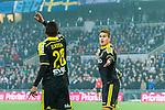 Stockholm 2014-04-16 Fotboll Allsvenskan Djurg&aring;rdens IF - AIK :  <br /> AIK:s Eero Markkanen sl&aring;r ut med armarna och ser fr&aring;gande ut i samband med en nick i f&ouml;rsta halvleken som nickas undan p&aring; m&aring;llinjen av Djurg&aring;rdens f&ouml;rsvarare<br /> (Foto: Kenta J&ouml;nsson) Nyckelord:  Djurg&aring;rden DIF Tele2 Arena AIK jubel gl&auml;dje lycka glad happy