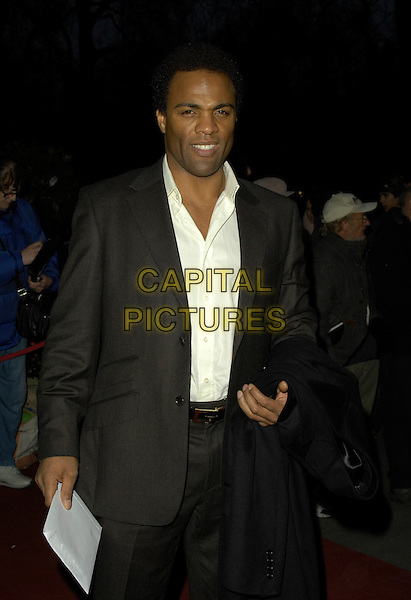 RAY FEARON.Arrivals - Laurence Olivier Awards at the Grosvenor Hotel, Park Lane, London, UK..February 18th, 2007.half length black suit jacket.CAP/CAN.©Can Nguyen/Capital Pictures