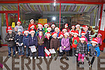 Foilmore National School Carol Singers in Cahersiveen on the 8th of December.