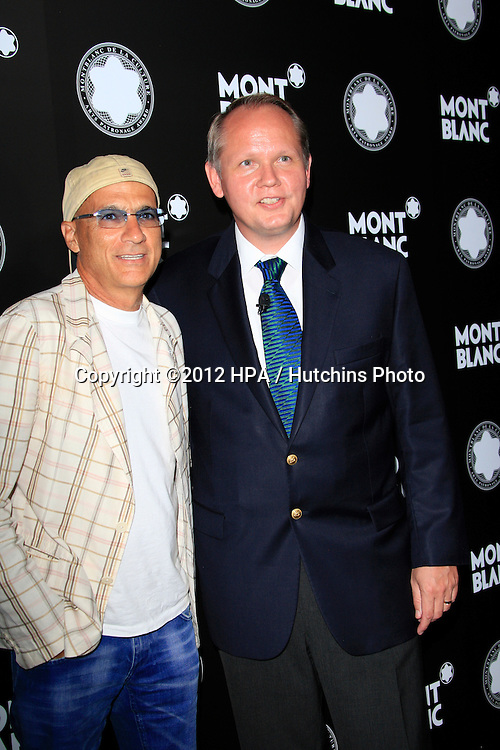 LOS ANGELES - OCT 2:  Jimmy Iovine, Jan Patrick Schmitz arrives at the 2012 Montblanc De La Culture Arts Gala at Chateau Marmont on October 2, 2012 in Los Angeles, CA
