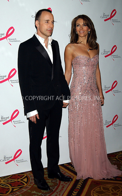 WWW.ACEPIXS.COM . . . . . ....NEW YORK, APRIL 10, 2006....David Furnish and Elizabeth Hurley at the Breast Cancer Research Foundation Presents 'The Very Hot Pink Party'.......Please byline: KRISTIN CALLAHAN - ACEPIXS.COM.. . . . . . ..Ace Pictures, Inc:  ..(212) 243-8787 or (646) 679 0430..e-mail: info@acepixs.com..web: http://www.acepixs.com