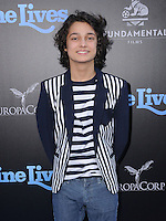 """01 August 2016 - Hollywood, California. Rio Mangini. World premiere of """"Nine Lives"""" held at the TCL Chinese Theatre. Photo Credit: Birdie Thompson/AdMedia"""
