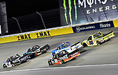 #4: Todd Gilliland, Kyle Busch Motorsports, Toyota Tundra Mobil 1 and #18: Harrison Burton, Kyle Busch Motorsports, Toyota Tundra Safelite AutoGlass