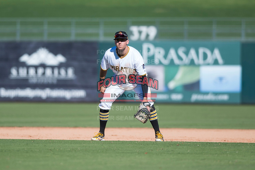 Surprise Saguaros first baseman Will Craig (45), of the Pittsburgh Pirates organization, during an Arizona Fall League game against the Salt River Rafters on October 9, 2018 at Surprise Stadium in Surprise, Arizona. Salt River defeated Surprise 10-8. (Zachary Lucy/Four Seam Images)