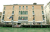 Venice, Italy - March 25, 2006 --  Front view of the Gritti Palace Hotel from a boat on the Grand Canal in Venice, Italy on March 25, 2006.  The Gritti Palace Hotel is on of the luxury hotels in Venice and enjoys a five star rating.  The author Ernest Hemingway stayed at the Gritti Palace when he visited Venice..Credit: Ron Sachs / CNP