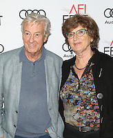 "Hollywood, CA - NOVEMBER 13: Paul Verhoeven, Martine Verhoeven, At AFI FEST 2016 Presented By Audi - A Tribute To Isabelle Huppert And Gala Screening Of ""Elle"" At The Egyptian Theatre, California on November 13, 2016. Credit: Faye Sadou/MediaPunch"