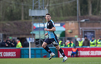 Matt Bloomfield of Wycombe Wanderers in action during the Sky Bet League 2 match between Wycombe Wanderers and Bristol Rovers at Adams Park, High Wycombe, England on 27 February 2016. Photo by Andrew Rowland.
