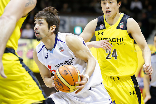 Shogo Asayama (Diamond Dolphins), <br /> FEBRUARY 14, 2015 - Basketball : <br /> National Basketball League &quot;NBL&quot; 2014-2015 <br /> between Hitachi Sunrockers Tokyo 97-88 Mitsubishi Electric Diamond Dolphins <br /> at 2nd Yoyogi Gymnasium, Tokyo, Japan. <br /> (Photo by AFLO SPORT) [1205]
