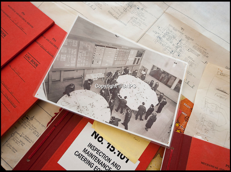 BNPS.co.uk (01202 558833)<br /> Pic: PhilYeomans/BNPS<br /> <br /> Cold War reminders fill the vast bunker.<br /> <br /> Fed up with your neighbours...This Cold War bunker boasting 56 rooms, metre thick walls and no windows could be the perfect country retreat.<br /> <br /> The former top secret nuclear bunker on a remote Devon clifftop was built to shelter local officials in the chilling event of a Soviet strike on nearby Plymouth.<br /> <br /> The 30,000 sq ft shelter, built at the height of the Cold War in 1952, boasts heavy steel blast doors and its 375 kva generator can provide enough heat and light to keep up to 150 people safe for several months.<br /> <br /> It's 56 rooms were kitted out as bedrooms, living spaces, and mess rooms so that the administration could continue running the county even after a nuclear strike.<br /> <br /> Codenamed Hope Cove R6, it was finally decommissioned in 1999 and bought by local farmers Trevor Lethbridge and his friend Derek Brooking, who have used it as an archive storage system and a venue for charity and art events.<br /> <br /> The pair are now selling it through Clive Emson Auctioneers in Maidstone, Kent.