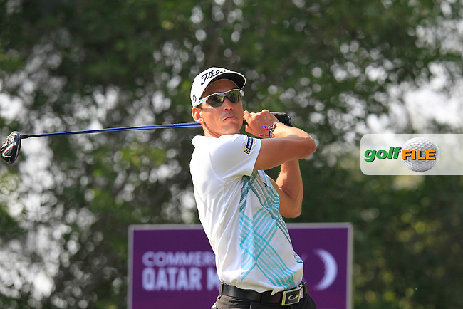 Rafael Cabrera-Bello (ESP) tees off the 6th tee during Saturday's Final Round of the Commercial Bank Qatar Masters 2014 held at Doha Golf Club, Doha, Qatar. 25th January 2014.<br /> Picture: Eoin Clarke www.golffile.ie