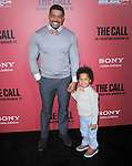 David Otunga and son at The Tri Star Pictures' World Premiere of The Call held at The Arclight Theater in Hollywood, California on March 05,2013                                                                   Copyright 2013 Hollywood Press Agency