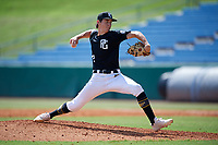 Jackson Baumeister (17) of The Bolles High School in Jacksonville, FL during the Perfect Game National Showcase at Hoover Metropolitan Stadium on June 18, 2020 in Hoover, Alabama. (Mike Janes/Four Seam Images)