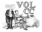 Volume CC (Mussolini as a waiter serving Hitler)