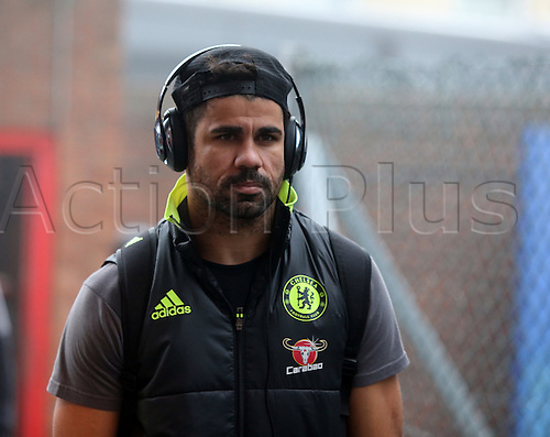 17.12.2016. Selhurst Park, London, England. Premier League Football. Crystal Palace versus Chelsea. Diego Costa  arriving at Selhurst Park for the game.