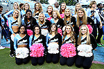 18 October 2014: UNC's dance team. The University of North Carolina Tar Heels hosted the Georgia Tech Yellow Jackets at Kenan Memorial Stadium in Chapel Hill, North Carolina in a 2014 NCAA Division I College Football game. UNC won the game 48-43.